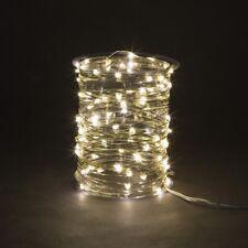 100er LED Micro Drahtlichterkette Draht Lichterkette Netzbetrieb Outdoor (TT)