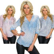 Geometrische Lockre Sitzende Damenblusen,-Tops & -Shirts im Blusen-Stil mit Viskose