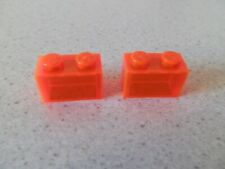 Lego 3065# 2x Basic Stein 1x2 Transparent neon orange 7161 6968 7257 7258