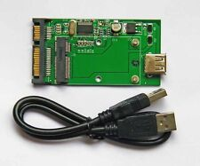 "Mini pcie mSATA SSD to 2.5"" SATA6.0Gbps and mSATA SSD to USB 2.0 adapter card"