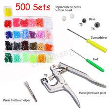 Button Fastener Snap Pliers 150 Set T5 Plastic Resin Press Stud Cloth Diaper