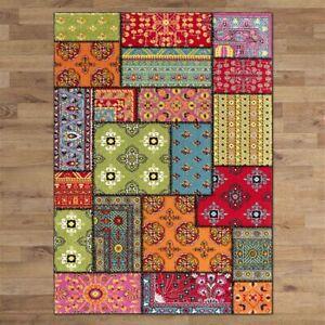 New Modern Rainbow Rug Carpet Soft Fine All Sizes