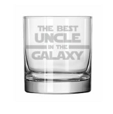 11oz Rocks Whiskey Highball Glass Best Uncle In The Galaxy