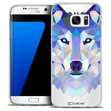 Coque Housse Etui Pour Galaxy S7 Edge Polygon Animal Rigide Fin Loup