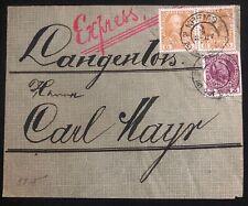 1908 Krems Austria Express Mail cover To Langenlois