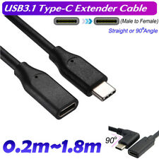 USB 3.1 Type-c Extension Charging Cable USB-C Male to Female Cord Lead