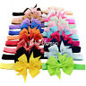 Sweet 20Pcs Kid Baby Girls Toddler Infant Flower Headband Hair Bow Band Headwear