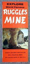 1960s VINTAGE TRAVEL BROCHURE Ruggles Mine GRAFTON NEW HAMPSHIRE NH Mines
