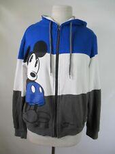 F4384 Disney Boys' Mickey Mouse Full Zip Hoodie Sweatshirt Size L