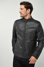 Next Mens Leather Jacket Sheep Skin Real Fashion Leathers