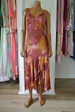 Sue Wong Dress Tie Dye Asymmetrical Fairy Hem Beaded Deco Party/S/4
