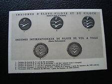 FRANCE - carte postale insignes d eleve-pilote et de pilote (cy84) french