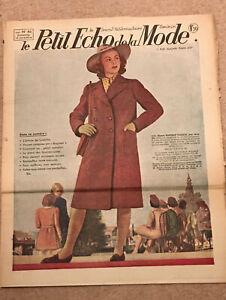 ORIGINAL VINTAGE LE PETIT ECHO DE LA MODE FRENCH FASHION MAGAZINE 1941 16 NOV
