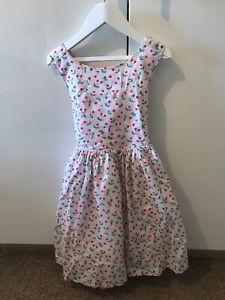 NEW EX MINI BODEN GIRLS 5 6 7 8 9 10 11 12 YEARS CHERRY PRINT JERSEY TUNIC DRESS