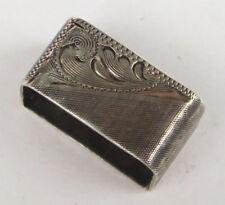 """Vtg VOGT Etched Mexican Sterling Silver 3/4"""" KEEPER For Ranger Belt Set Western"""