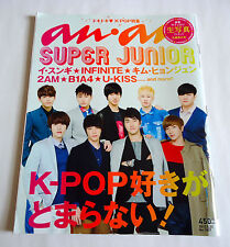 SUPER JUNIOR K-POP anan JAPAN MAGAZINE 2012 2AM Lee Seung Gi Infinite B1A4 U-Kis
