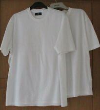 Mens M&S & Primark White Short Sleeve T-Shirts Size L