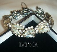 EARLY SIGNED WEISS 1952 VINTAGE MARQUISE RHINESTONE CRYSTALRARE BRACELET GIFT
