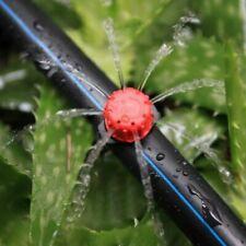 100pcs Sprinkler Adjustable Micro Flow Dripper Head Garden Watering Irrigation