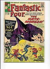Fantastic Four #21 December 1963 1st The Hate Monger Sgt. Fury cameo