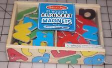 Melissa & Doug Magnetic Wooden Alphabet 52 Magnetic Letters Upper & Lower Case