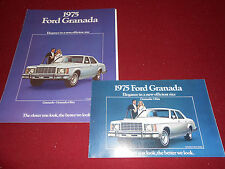 1975 FORD GRANADA 12-Page SALES CATALOG plus 75 GRANADA FOLDOUT BROCHURE 2 for 1