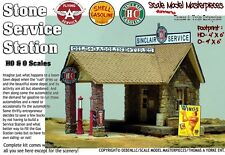 STONE SERVICE STATION -Sinclair HD KIT Scale Model Masterpieces/YORKE 1:48/O/On3