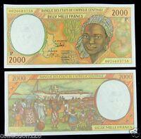 ECCAS Chad Banknote (P) 2000 Francs UNC