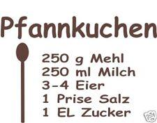Wandtattoo-Aufkleber Pfannkuchen-Rezept f. Deko, Küche