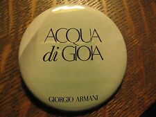 Acqua Di Gioia Giorgio Armani Designer Fragrance Advertisement Logo Button Pin