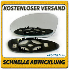 spiegelglas für PORSCHE 968 /928 92-95 links asphärisch beheizbar fahrerseite