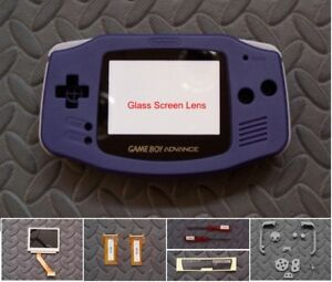 GBA Backlight Backlit Adapt AGS101 Mod Kit w/LCD w/glass lens- Solid Blue