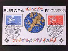 FRANCE EUROPA CEPT 1961 SONDER-BLATT SONDER-BLOCK DOCUMENT PHILATELIQUE c9477