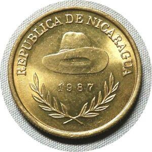 elf Nicaragua 1 Cordoba 1987  Cowboy Hat Sandinistas