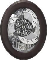 Rhythm Clocks Nostalgia Espresso Magic Motion Clock (4MH871WU06)
