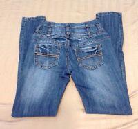 Women's twentyone black by Rue 21 High Rise Skinny Jeans Size 0 Regular (J-255)