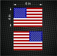 "2 Digital 6"" American Flag USA mirrored Vinyl Decals for Boat truck car sticker"