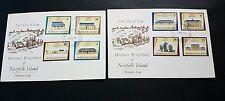 Norfolk Island 1974 - 1975 Historic Buldings 4c,14c,20c,$1, 3c, 8c, 15c, 25c FDC