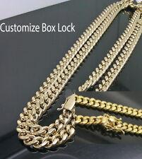 10K Yellow Gold Men's 6 mm Miami Cuban Chain With Box Lock 30 Inch Long