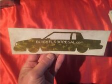 Buick Grand National GOLD Leaf Decal Regal Turbo T Type Limited GNX WH1 WE4 D84