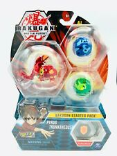 Bakugan Starter Pack 3-Pack, Pyrus Trunkanious Collectible Transforming - Wave 7