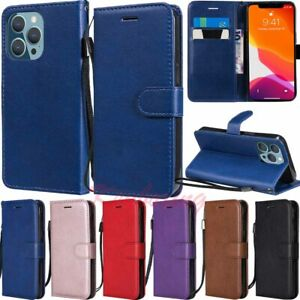 For iPhone 13 Pro Max 12 11 XS XR SE 6s 7 8 Wallet Flip Leather Phone Case Cover