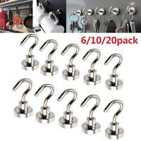 Lot 12LB Magnetic Hook Hooks Heavy Duty Hanger Hanging Pothook Fit Refrigerator