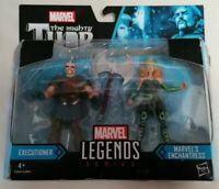 "THOR - *New* Hasbro Marvel Legends 3.75"" 2 Figure Pack Executioner & Enchantress"