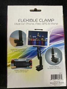 Flexible Arm Clamp Cell Phone Pad GPS Adjustable Mount Holder Black