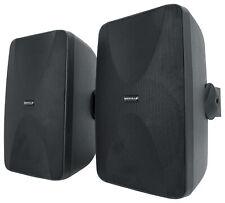 New Listing2 Rockville Wet 6525b 65 70v Commercial Indooroutdoor Wall Speakers In Black