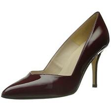 New ANDRE ASSOUS Steph Red Burgundy Leather Classic Dress Pumps Shoes Womens 8.5