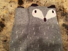 Bnwbag Girls Gray & White Fox Socks-Small(6 Months-2 Years) 000005A2