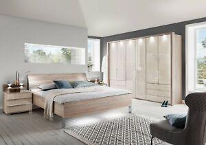 LUXURY GERMAN MOBEL BIFOLD DOOR WARDROBE BEDROOM OAK WHITE GLASS FITTED FREE