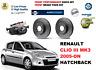 para RENAULT CLIO III MK3 2005-on Delante Rendimiento perforados DISCO DE FRENO